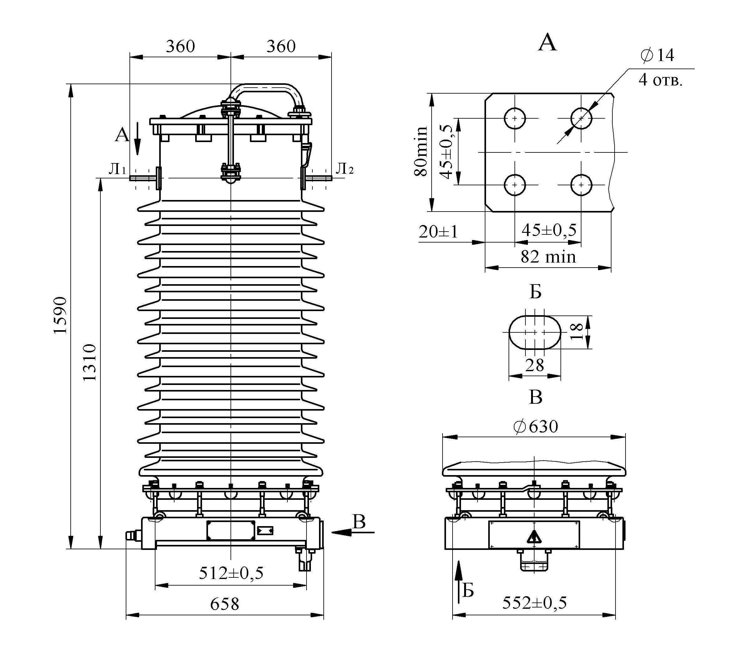 Трансформатор тока ТФЗМ 110 Б – III У1