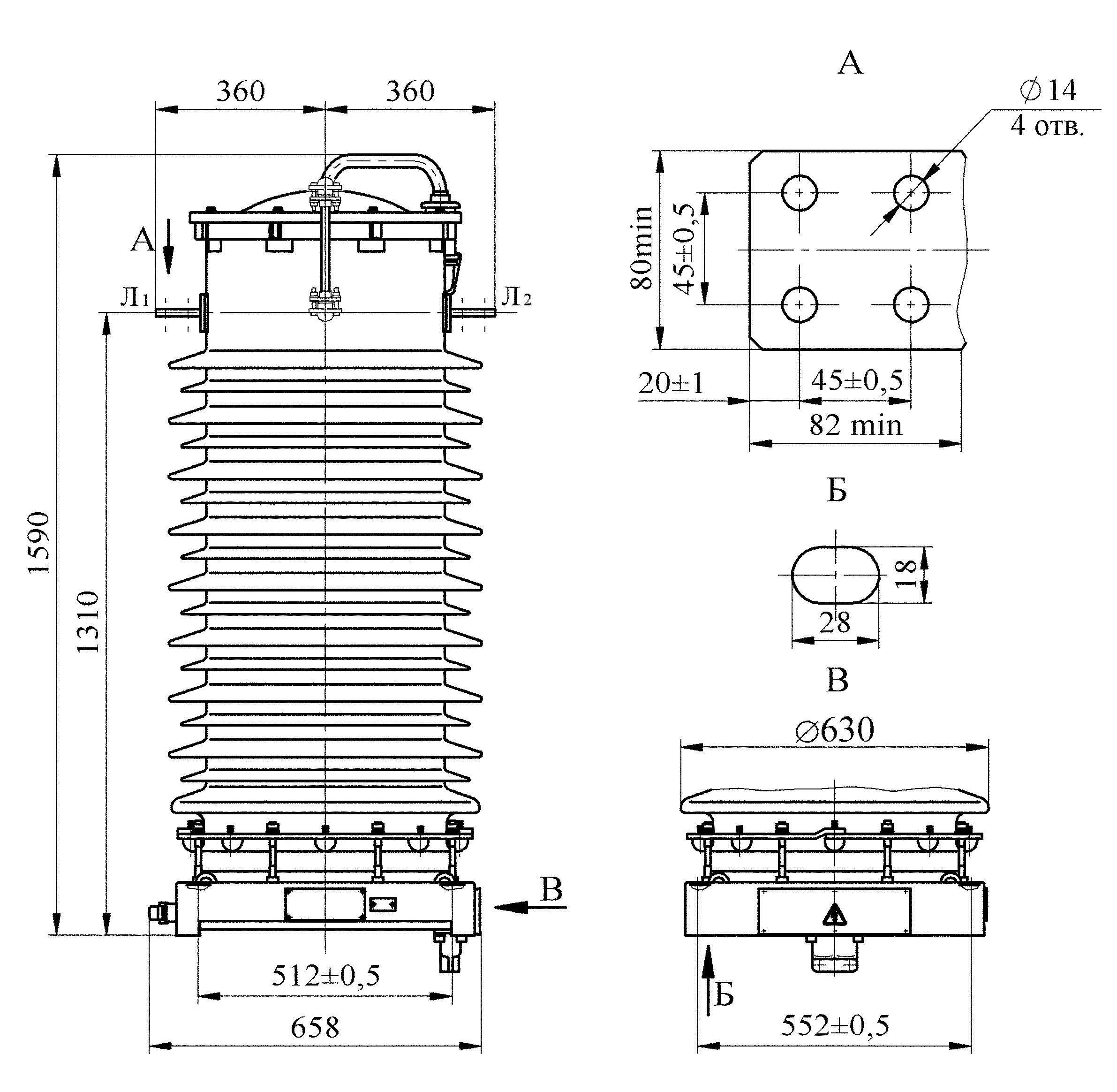 Трансформатор тока ТФЗМ 110 Б – IV У1