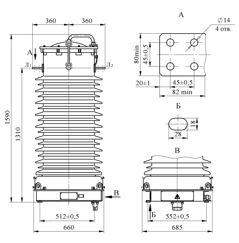 Трансформатор тока ТФЗМ 110 Б – IV Т1