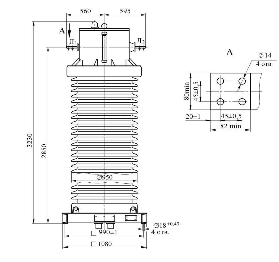 Трансформатор тока ТФЗМ 220 Б - IV У1