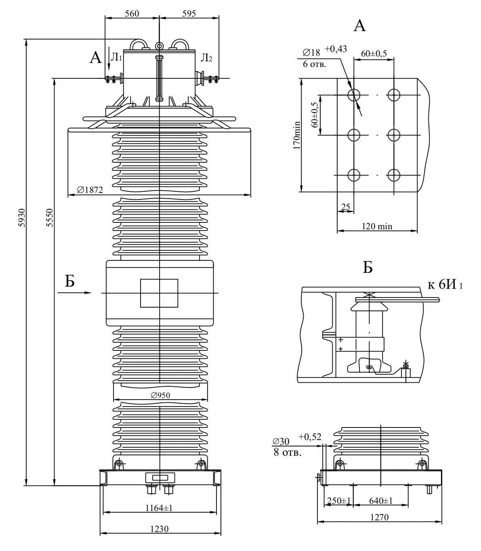 Трансформатор тока ТФЗМ 500 Б – III УХЛ1