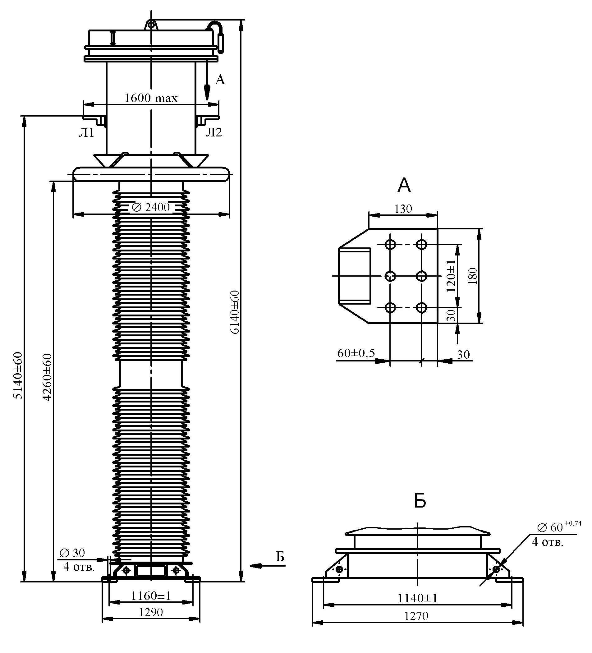 Трансформатор тока ТФРМ 500 Б – У1