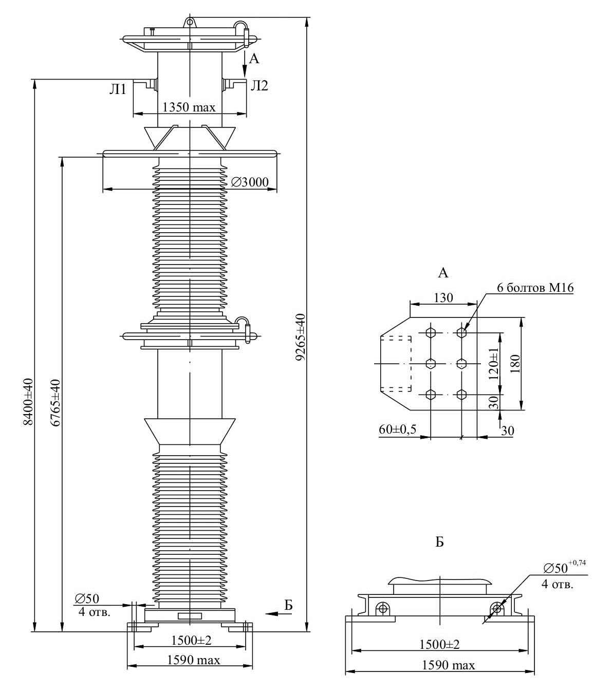 Трансформатор тока ТФРМ 750 А – У1