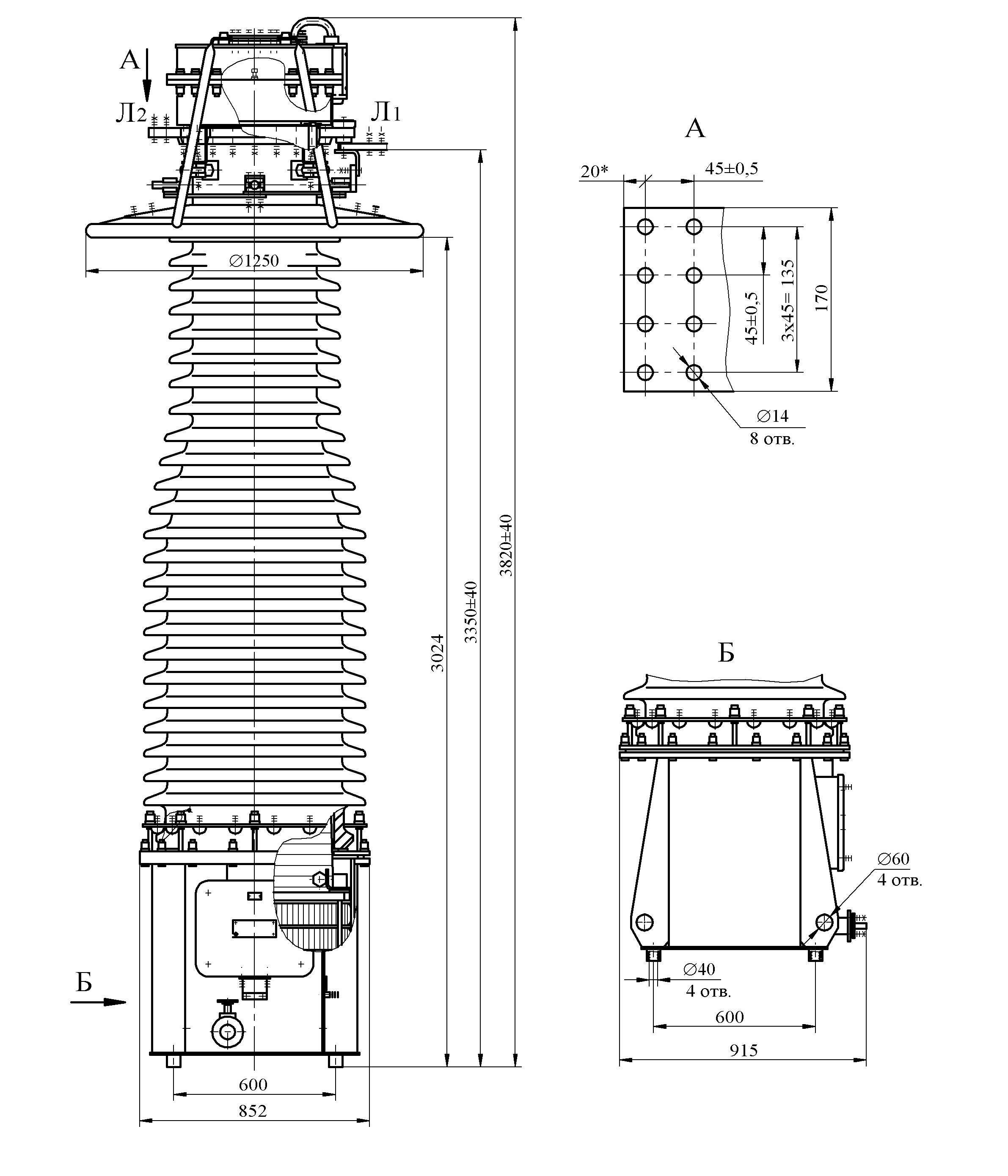 Трансформатор тока ТФУМ 330 А – У1