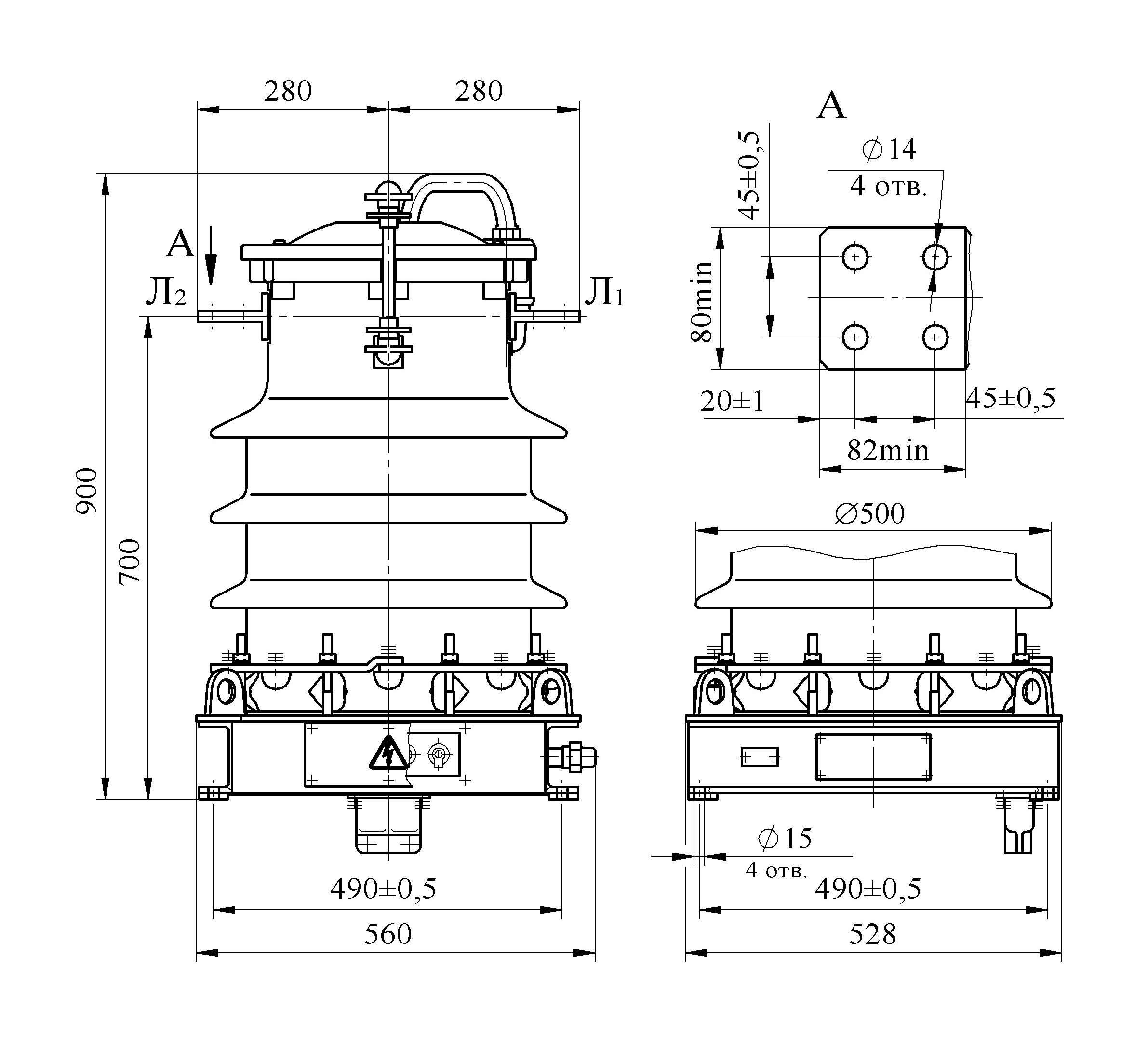 Трансформатор тока ТФЗМ 35А –ХЛ1