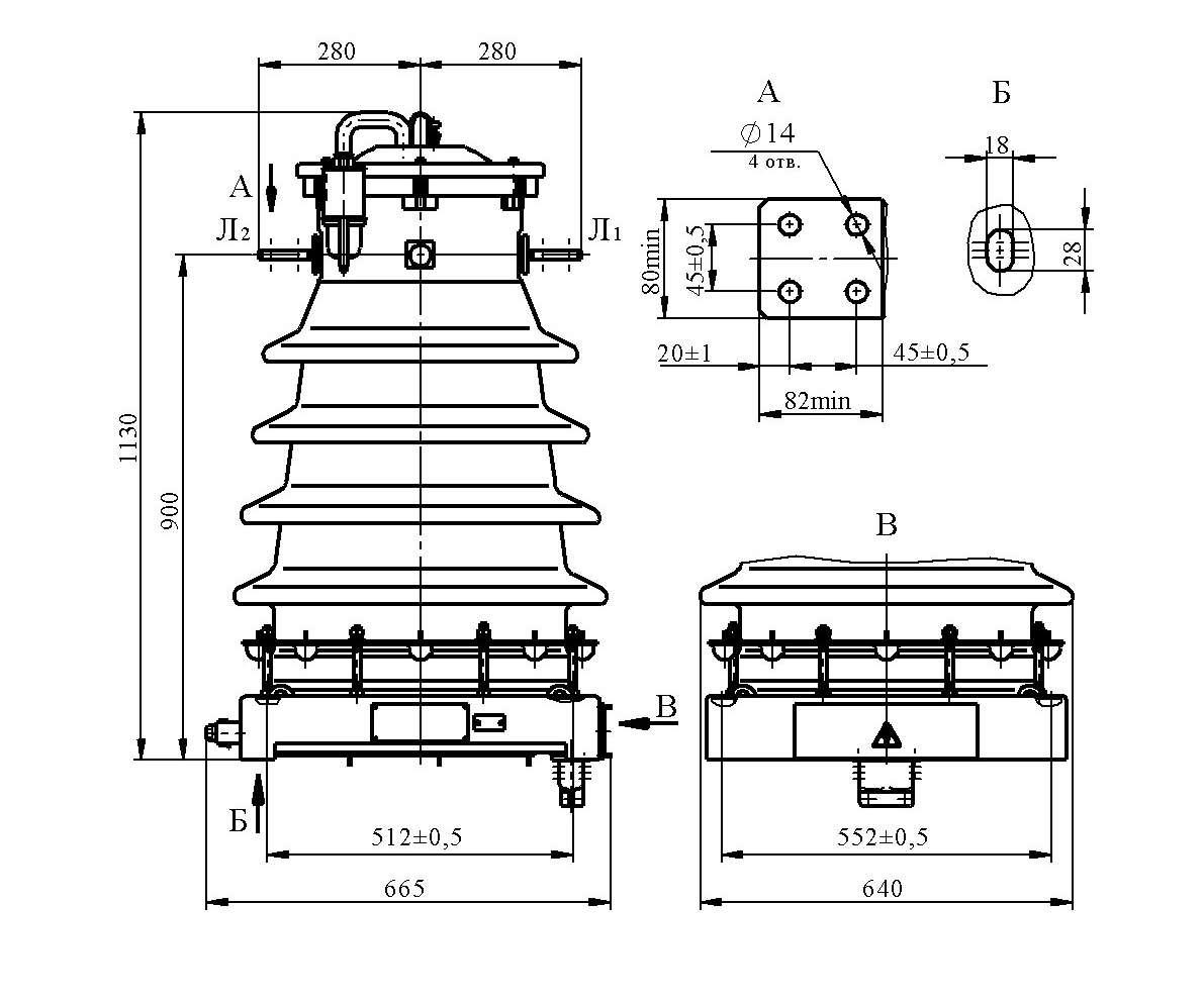 Трансформатор тока ТФЗМ 35 Б–I У1