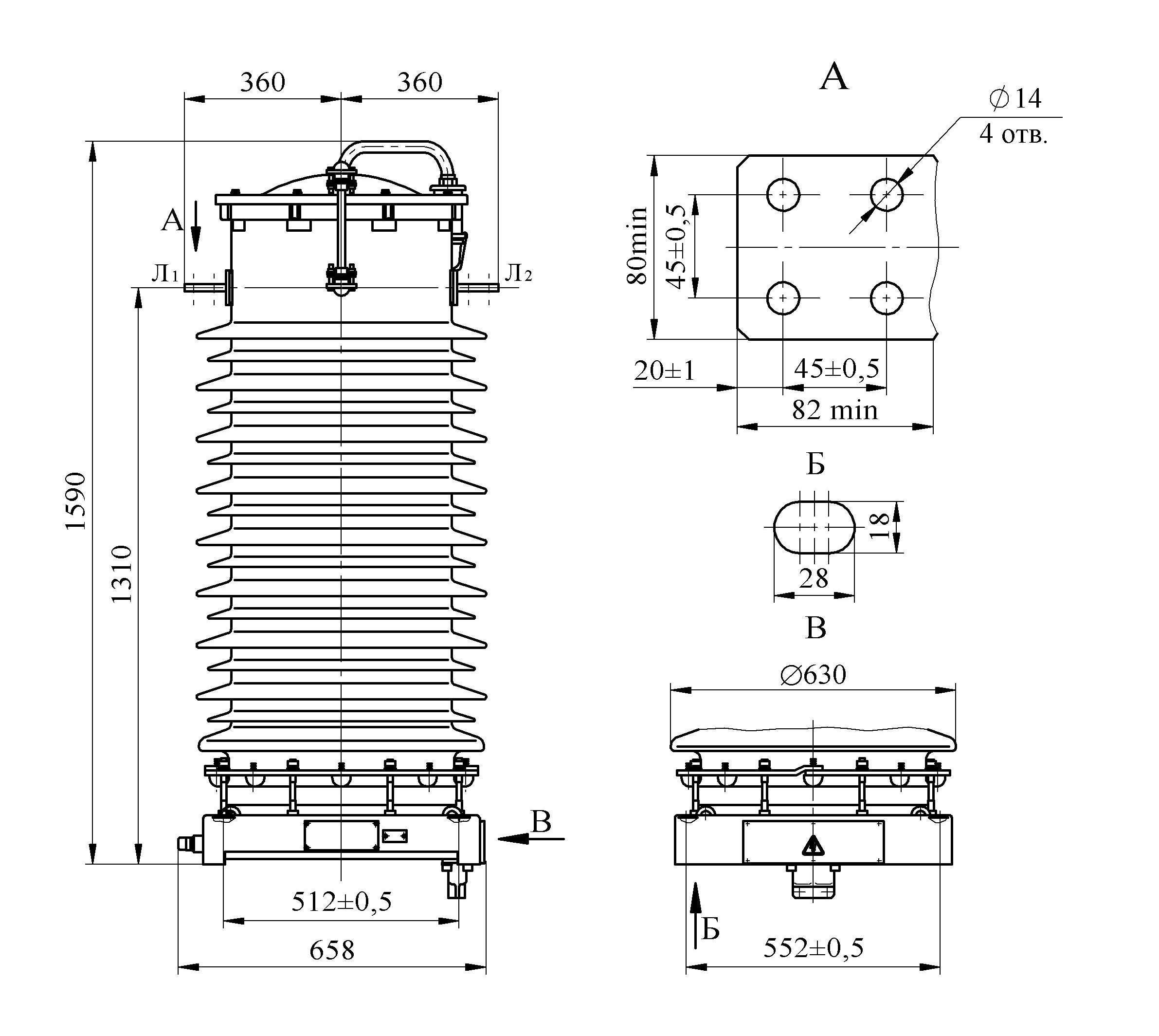 Трансформатор тока ТФЗМ 110 Б – I У1