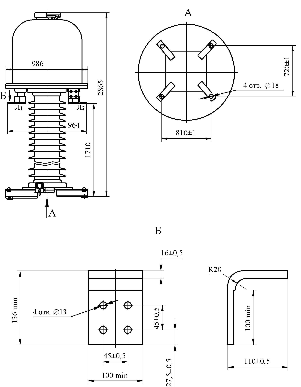 Трансформатор тока ТОГ 150 – II – I У1