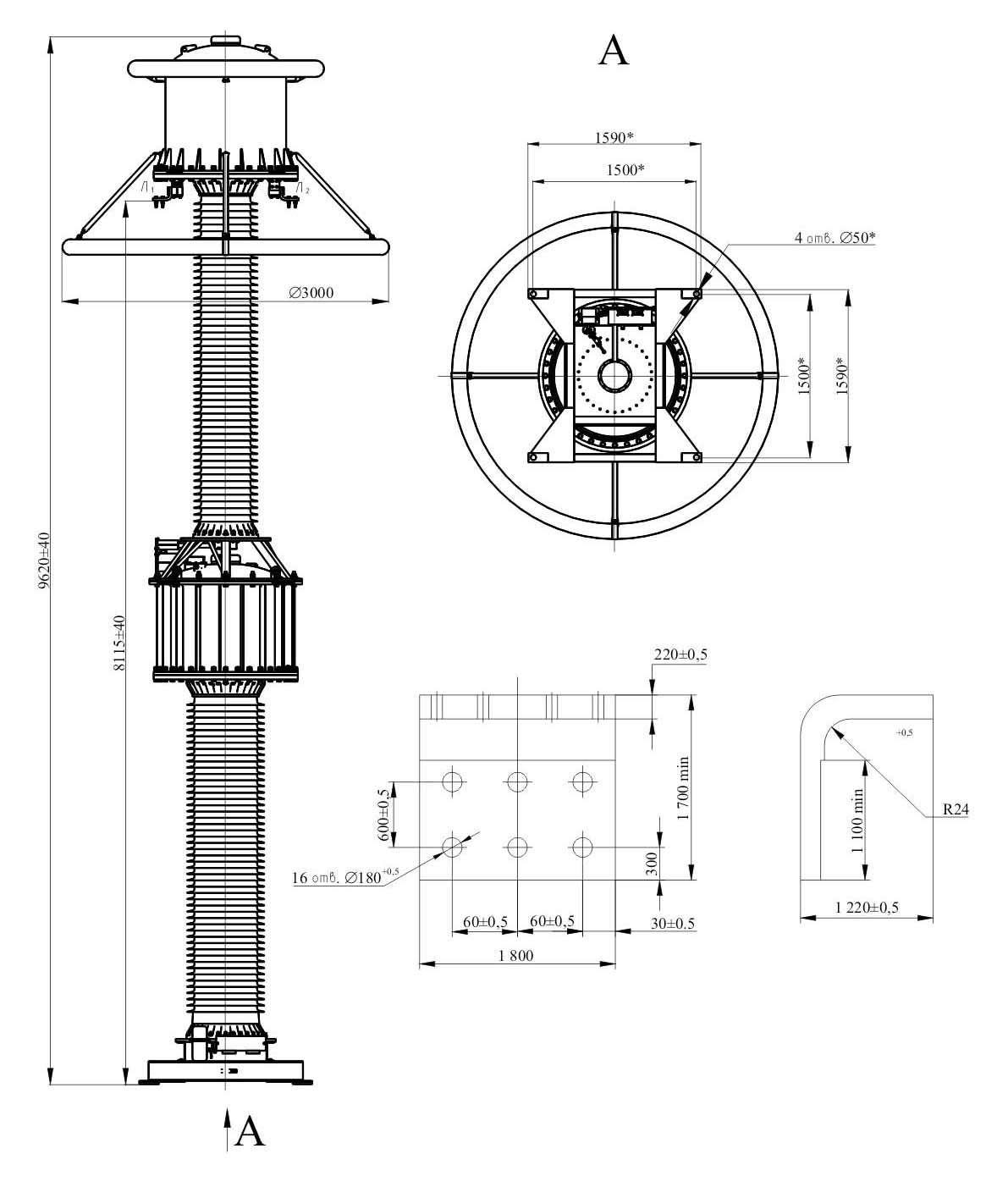 Трансформатор тока ТОГ 750