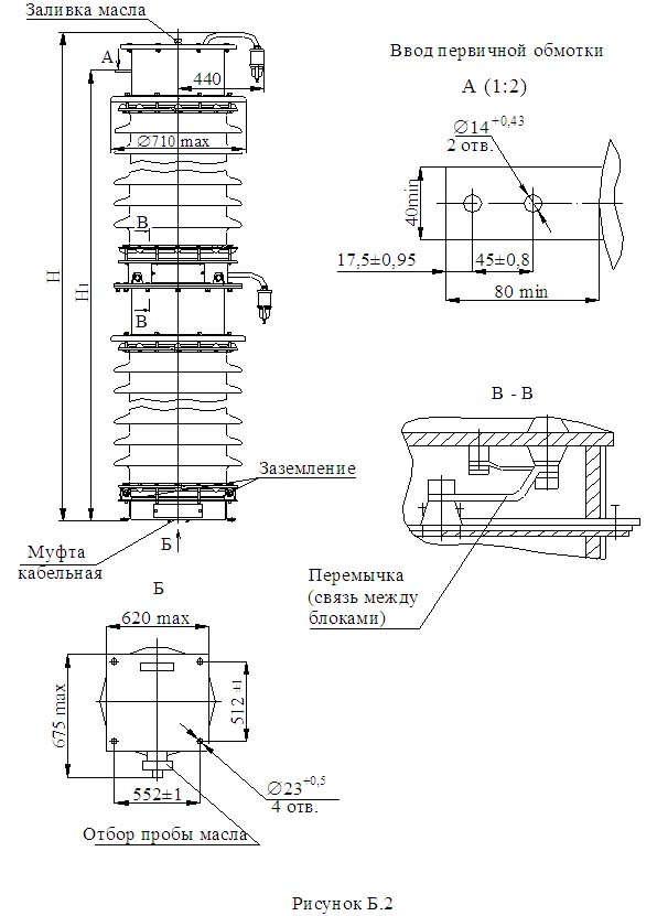 Трансформатор напряжения серии НКФА 330