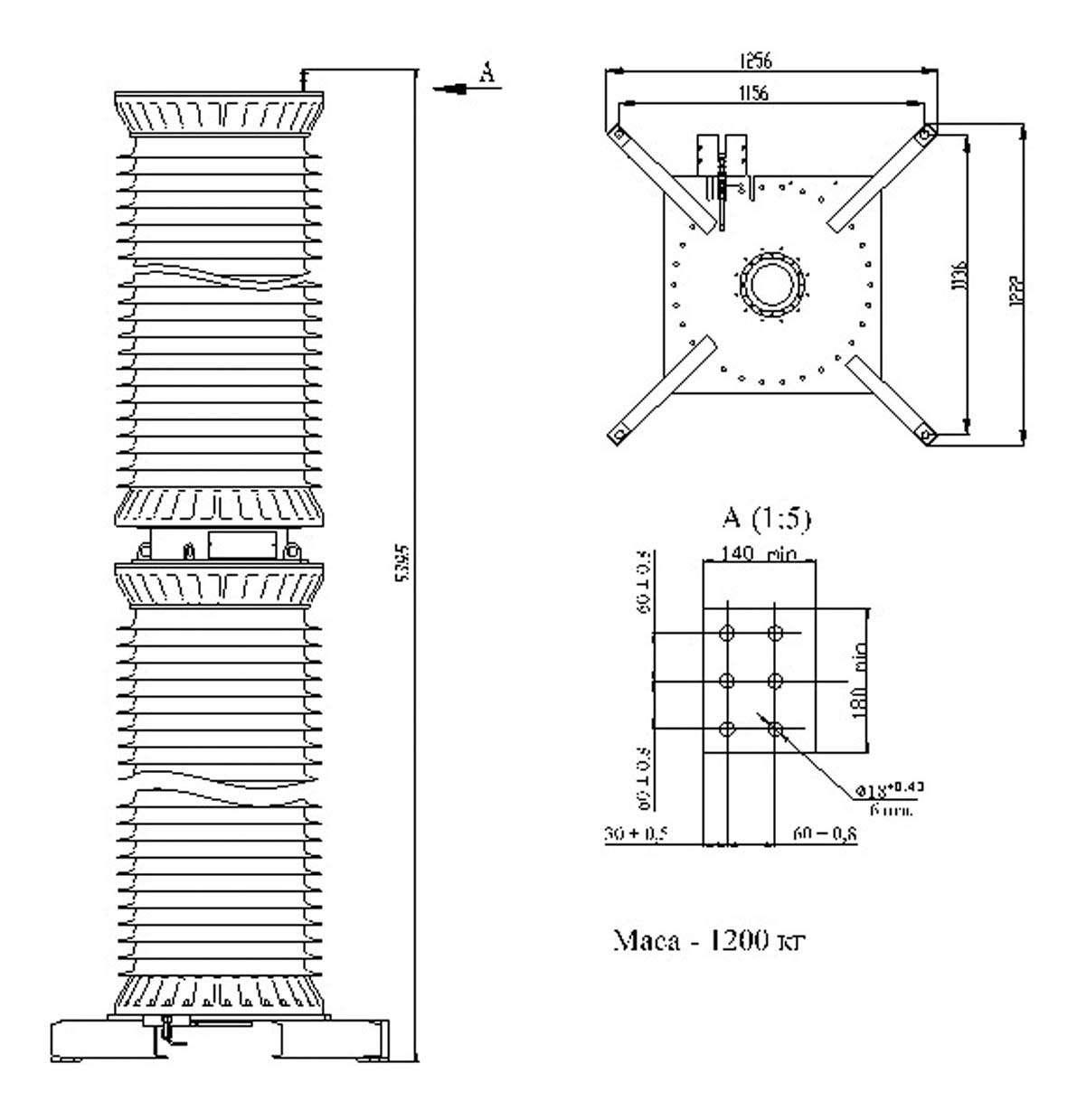 Трансформатор напряжения НКГ-500 II I