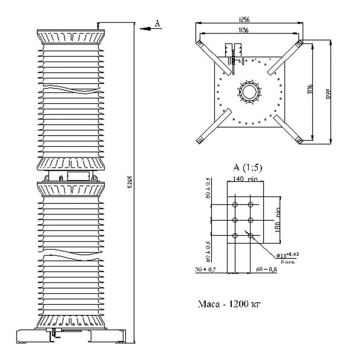 Трансформатор напряжения НКГ-500 II II