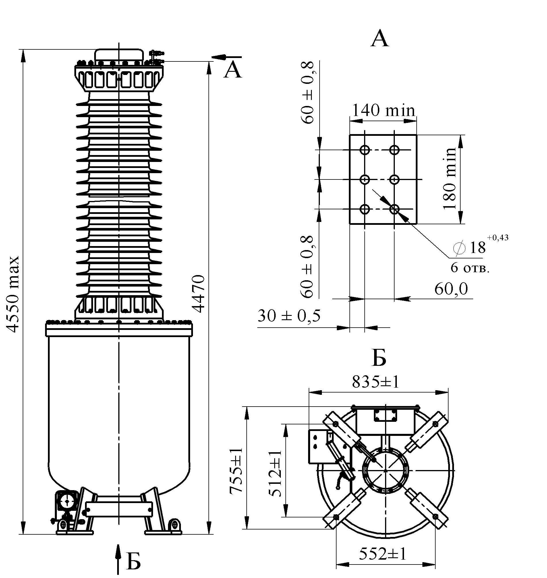 Трансформатор напряжения НОГ-330 II I