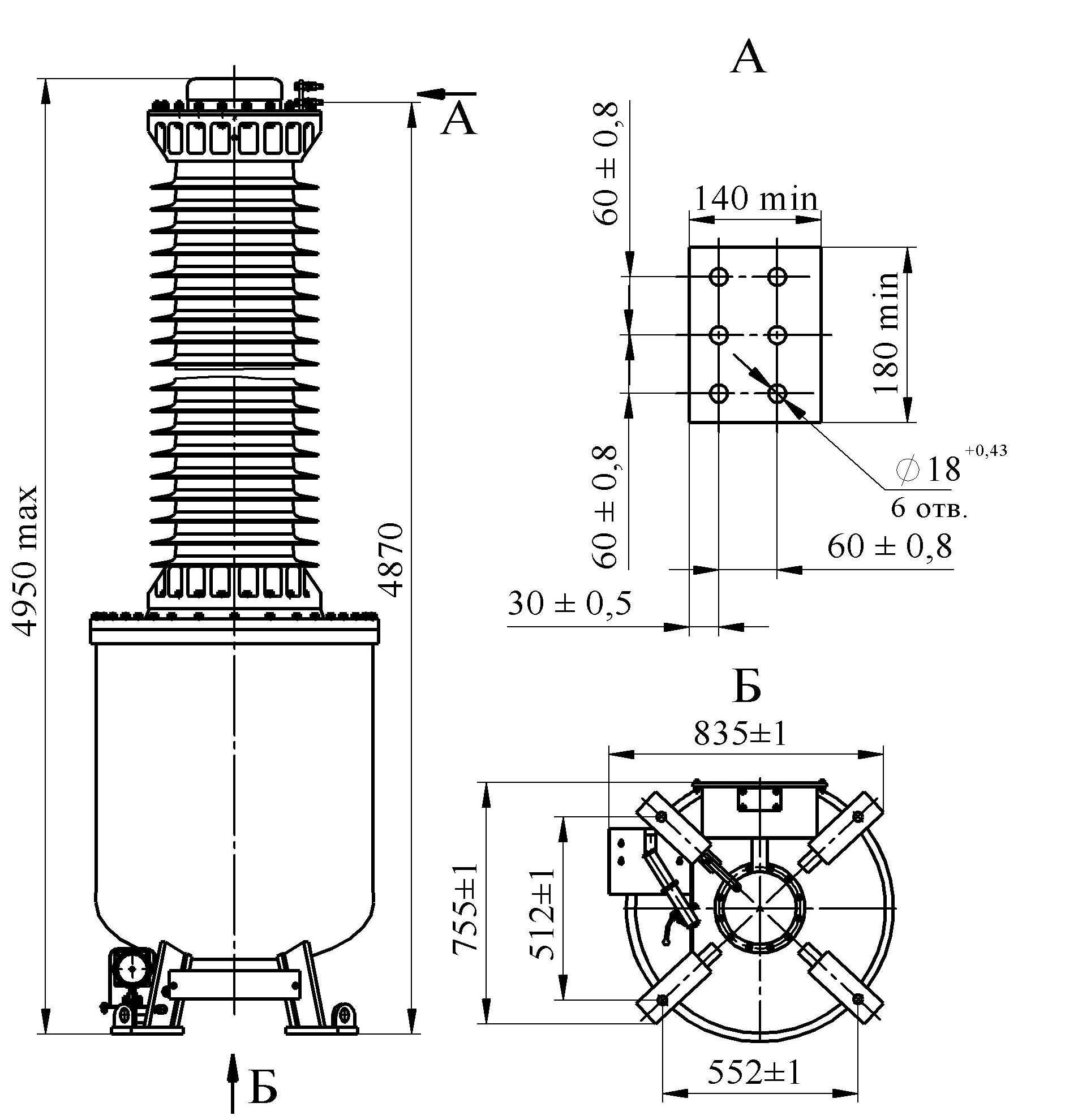 Трансформатор напряжения НОГ-330 III II