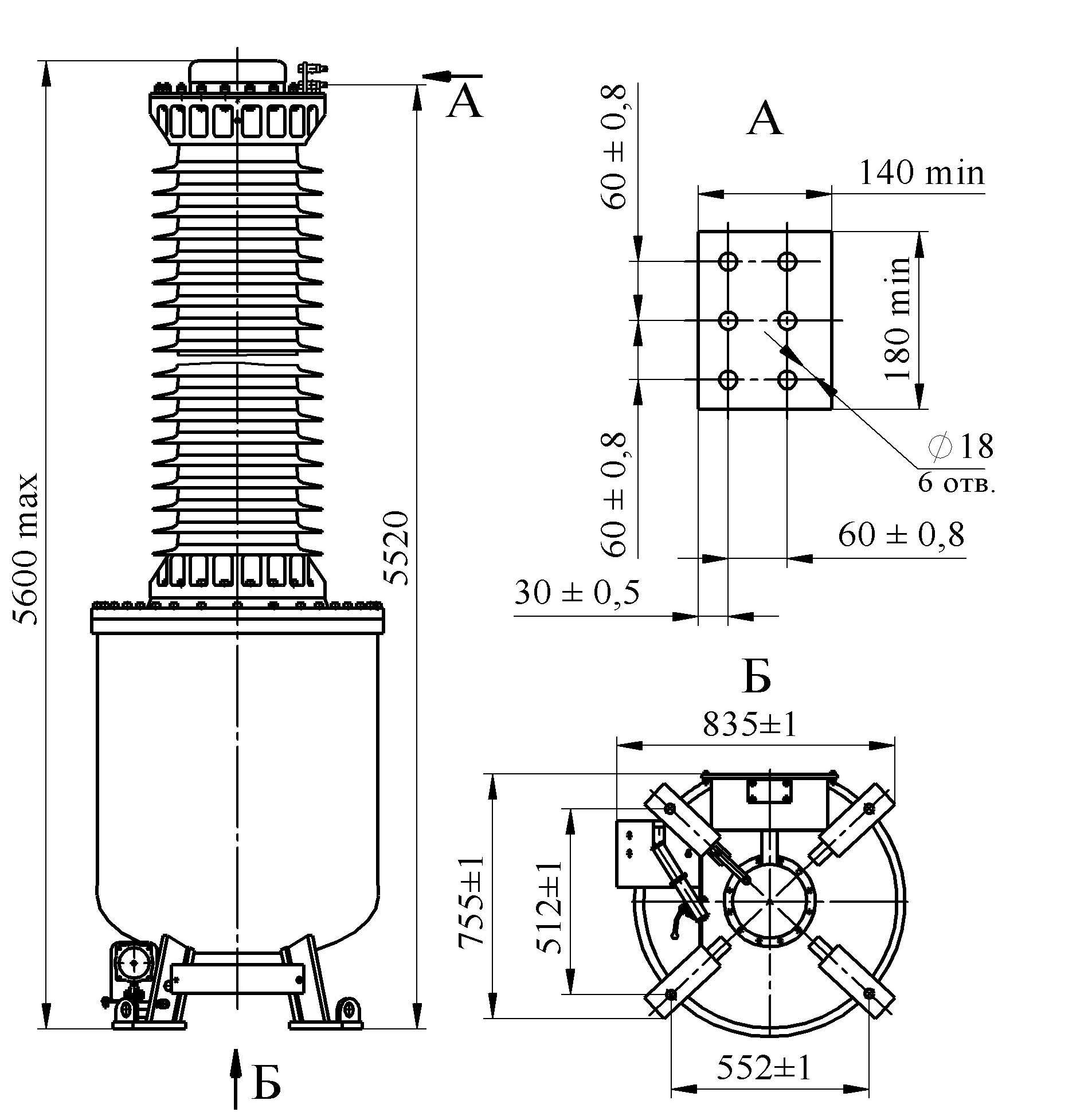 Трансформатор напряжения НОГ-330 IV II